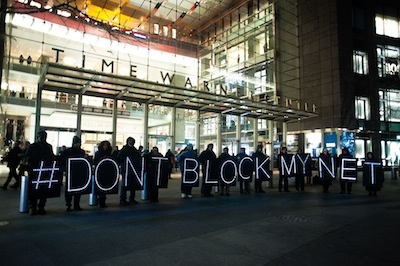 Center For Media Justice Dontblockmynet Action